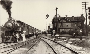 Railroad_Locomotive_Being_Greeted_at_Portage_Depot